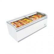 Морозильный ларь-бонета SAKATO IF-XOG-A с стеклянными панорамными раздвижными крышками и внутренним освещением